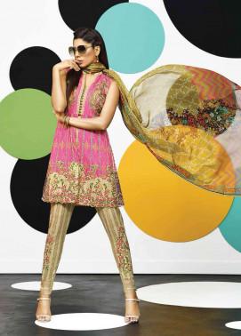 Asim Jofa Embroidered Lawn Unstitched 3 Piece Suit AJ17E 3A