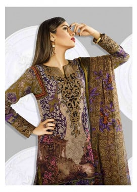 Asim Jofa Embroidered Lawn Unstitched 3 Piece Suit AJ17L 10A