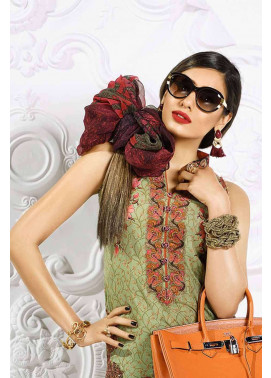 Asim Jofa Embroidered Lawn Unstitched 3 Piece Suit AJ17L 12A