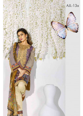 Asim Jofa Embroidered Lawn Unstitched 3 Piece Suit AJ17L 13A