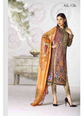 Asim Jofa Embroidered Lawn Unstitched 3 Piece Suit AJ17L 13B