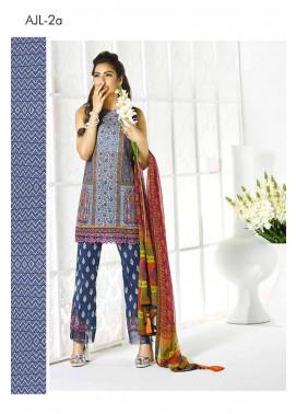 Asim Jofa Embroidered Lawn Unstitched 3 Piece Suit AJ17L 2A