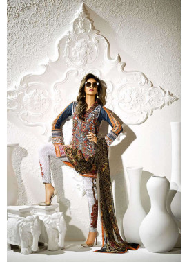 Asim Jofa Embroidered Lawn Unstitched 3 Piece Suit AJ17L 4B