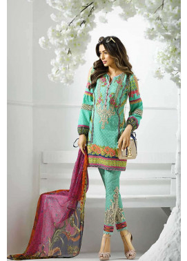 Asim Jofa Embroidered Lawn Unstitched 3 Piece Suit AJ17L 5A
