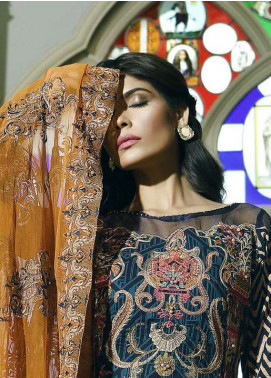 Asim Jofa Embroidered Lawn Unstitched 3 Piece Suit AJ18L 10B - Spring / Summer Collection