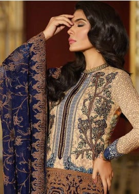 Asim Jofa Embroidered Lawn Unstitched 3 Piece Suit AJ18L 11A - Spring / Summer Collection