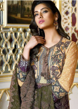Asim Jofa Embroidered Lawn Unstitched 3 Piece Suit AJ18L 11B - Spring / Summer Collection