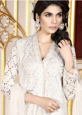 Asim Jofa Embroidered Lawn Unstitched 3 Piece Suit AJ18L 1A - Spring / Summer Collection