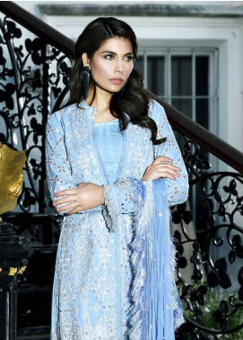 Asim Jofa Embroidered Lawn Unstitched 3 Piece Suit AJ18L 1B - Spring / Summer Collection