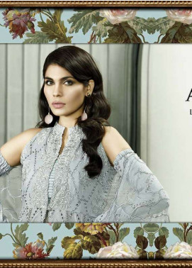 Asim Jofa Embroidered Lawn Unstitched 3 Piece Suit AJ18L 2B - Spring / Summer Collection