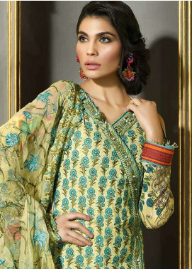 Asim Jofa Embroidered Lawn Unstitched 3 Piece Suit AJ18L 5A - Spring / Summer Collection