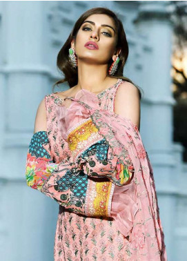 Asim Jofa Embroidered Lawn Unstitched 3 Piece Suit AJ18L 5B - Spring / Summer Collection