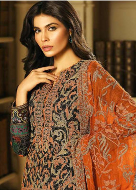 Asim Jofa Embroidered Lawn Unstitched 3 Piece Suit AJ18L 6A - Spring / Summer Collection