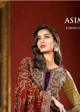 Asim Jofa Embroidered Lawn Unstitched 3 Piece Suit AJ18L 6B - Spring / Summer Collection