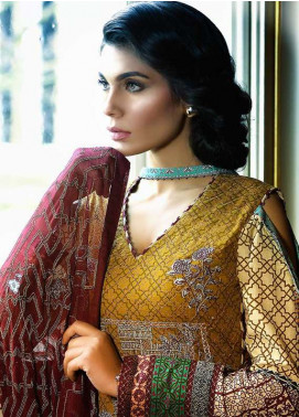 Asim Jofa Embroidered Lawn Unstitched 3 Piece Suit AJ18L 8A - Spring / Summer Collection