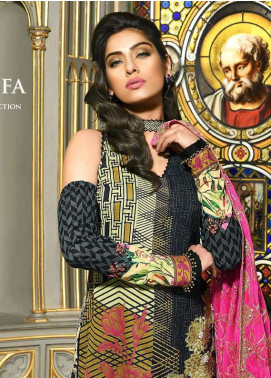 Asim Jofa Embroidered Lawn Unstitched 3 Piece Suit AJ18L 9B - Spring / Summer Collection