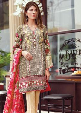 Al Karam Embroidered Cotton Unstitched 3 Piece Suit AK17E 06 Green