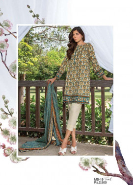 Al Karam Embroidered Cotton Unstitched 3 Piece Suit AK17E 19 Teal