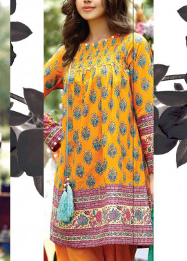 Al Karam Embroidered Cotton Unstitched 2 Piece Suit AK17E 30 Orange