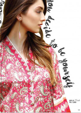 Al Karam Embroidered Cotton Unstitched 2 Piece Suit AK17E 31 Pink