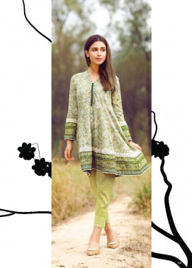 Al Karam Embroidered Cotton Unstitched 1 Piece Suit AK17E 37 Green