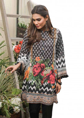 Al Karam Embroidered Cotton Unstitched 1 Piece Suit AK17E 42 Black