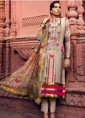 Al Karam Embroidered Silk Net Unstitched 3 Piece Suit AK18F 06 - Festive Collection