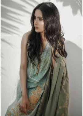 Al Karam Embroidered Lawn Unstitched 3 Piece Suit AK18L SS-04 GREEN - Spring / Summer Collection
