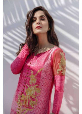 Al Karam Embroidered Lawn Unstitched 3 Piece Suit AK18L SS-04 PINK - Spring / Summer Collection