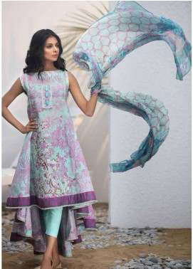 Al Karam Embroidered Lawn Unstitched 3 Piece Suit AK18L SS-08 PINK - Spring / Summer Collection