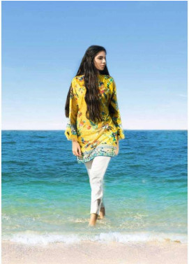 Al Karam Printed Lawn Unstitched 3 Piece Suit AK18L SS-43 CHROME YELLOW - Spring / Summer Collection