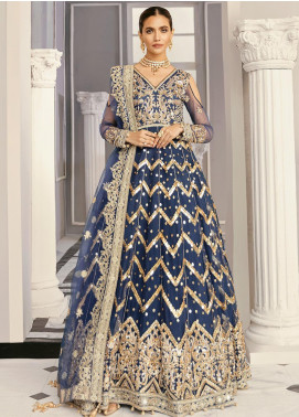 Akbar Aslam Embroidered Net Unstitched 3 Piece Suit AA21F AAWC-1329 - Formal Luxury Collection
