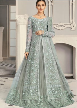 Akbar Aslam Embroidered Net Unstitched 3 Piece Suit AA21F AAWC-1331 - Formal Luxury Collection