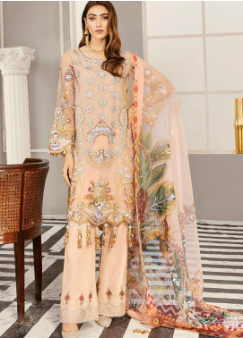Akbar Aslam Embroidered Organza Unstitched 3 Piece Suit AA21F AAWC-1332 - Formal Luxury Collection