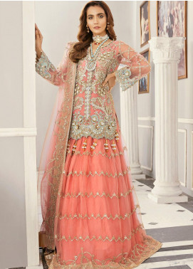 Akbar Aslam Embroidered Net Unstitched 3 Piece Suit AA21F AAWC-1337 - Formal Luxury Collection