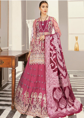 Akbar Aslam Embroidered Net Unstitched 3 Piece Suit AA21F AAWC-1344 - Formal Luxury Collection