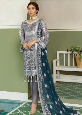 Akbar Aslam Embroidered Chiffon Unstitched 3 Piece Suit AA20WD 2303 - Wedding Collection