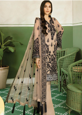 Akbar Aslam Embroidered Chiffon Unstitched 3 Piece Suit AA20WD 2305 - Wedding Collection