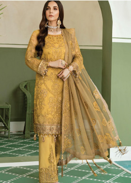 Akbar Aslam Embroidered Chiffon Unstitched 3 Piece Suit AA20WD 2310 - Wedding Collection
