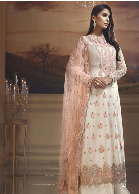 Anaya by Kiran Chaudhry Embroidered Cotton Net Unstitched 3 Piece Suit AKC18W 04 - Wedding Edition
