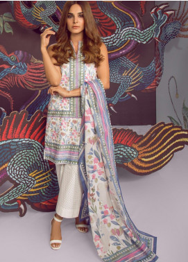 Al Karam Printed Cambric Unstitched 3 Piece Suit AKI19MS MS 13.1 19 Purple - Mid Summer Collection
