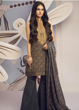 Al Karam Embroidered Cambric Unstitched 2 Piece Suit AKI19MS MS 15.1 19 Black - Mid Summer Collection