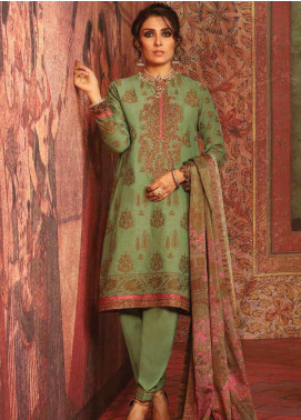 Al Karam Embroidered Jacquard Unstitched 3 Piece Suit AK19-F3 W3B-19 - Festive Collection