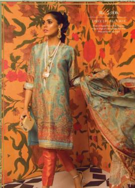 Al Karam Embroidered Zari Net Unstitched 2 Piece Suit AK19F 20J - Festive Collection