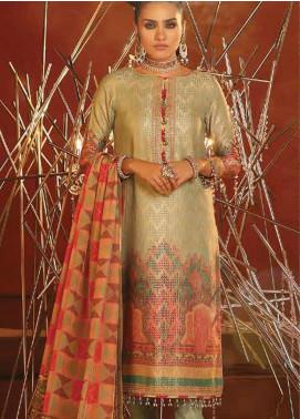 Al Karam Embroidered Jacquard Unstitched 3 Piece Suit AK20F-2 FC-14F-20 - Festive Collection