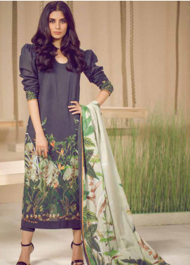Al Karam Printed Cambric Unstitched 3 Piece Suit AKI19MS MS 05 19 Black - Mid Summer Collection