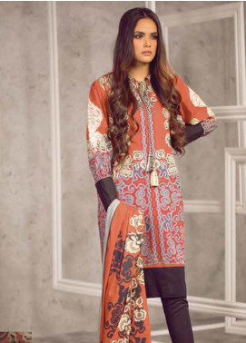 Al Karam Embroidered Cambric Unstitched 2 Piece Suit AKI19MS MS 18 19 Red - Mid Summer Collection