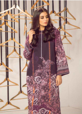 Al Karam Printed Cambric Unstitched Kurties AKI19MS MS 25 19 Purple - Mid Summer Collection