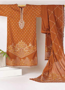 Al Karam Embroidered Jacquard Unstitched 3 Piece Suit AK20J JC-04-20-RUST - Spring / Summer Collection