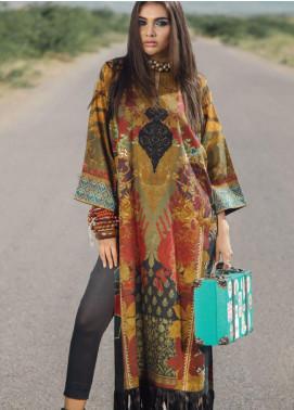 Al Karam Embroidered Cotton Satin Unstitched 2 Piece Suit AK19N FW-D10-19-2 - Luxury Collection